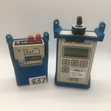 Noyes OPM4 Optical Power Meter & OLS 1 Multimode Source Kit w/ adapters PULLED