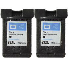 2PK for HP 63XL Black Ink Cartridge High Yield for HP ENVY 4520 4522 4512 4516