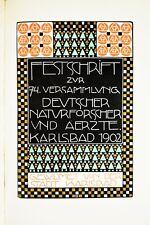 Jugendstil Art Nouveau Buch KARLSBAD ° Entw. Berthold LÖFFLER Wiener Werkstätte