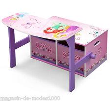 Disney Princess 3in1 Schreibtisch Spielzeugkiste Sitzbank Holz Prinzessin 84562