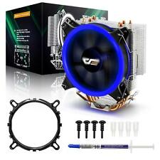 darkFlash 120mm PWM Blue LED CPU Cooler Heatsink Air Cooling Fan for Intel AMD