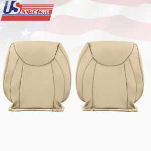 Driver & Passenger top Leather Seat Cover Tan For 2001 to 2006 Lexus LS430