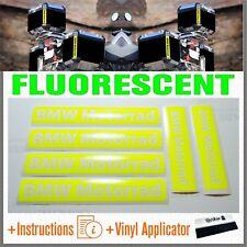 6x BMW Motorrad Yellow FLUO ADESIVI PEGATINA R1200 1150 F800 F650 F700 GS A
