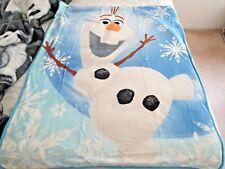 "NEW!! DISNEY FROZEN Olaf Plush Soft Sherpa Baby blanket Blue Color 41"" X 53"""
