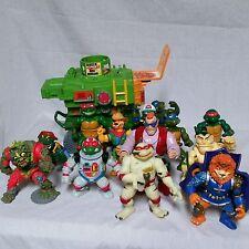 VTG Teenage Mutant Ninja Turtle Lot TMNT Pizza Thrower Playmates 80's 90's