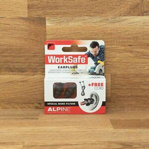 Alpine WorkSafe Gehörschutz Ohrstöpsel für die Arbeit - Lärmschutz für Heimwerke