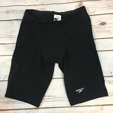 Speedo LZR Racer Pro Jammer Mens Size 28 Solid Black FINA Approved Swimsuit