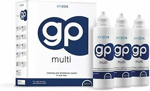 Avizor GP Multi Contact Lens Solution Multipack 3 x 240ml for RGP contact lenses