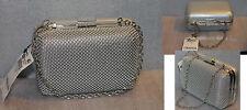 Style & Co. Women's Gabriella Mesh Minaudiere Evening purse Silver Bag