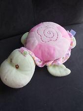 doudou peluche tortue rose et verte GIPSY 22cm (2 dispo)