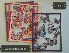 Butterflies Rectangle Paper Die Cuts x4 Scrapbooking Card Topper Embellishment