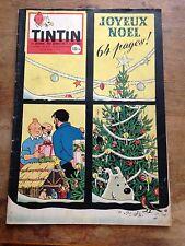 JOURNAL TINTIN 530 France (1958) couv Hergé RARE avec chèq tintin et calendrier