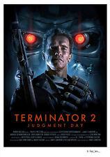 Terminator 2 juicio día alternativa Movie Print Poster Brian Taylor NT Mondo