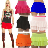NEON RARA MICRO MINI SKIRT TUTU  ALTERNATIVE size 8-16 PLAIN FRILL PARTY DANCE
