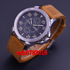 44mm Parnis black dial steel case Sapphire glass Automatic Mens Watch ST2542