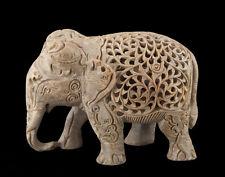STATUE ELEPHANT- SCULPTURE EN PIERRE  INDE-STONE ELEPHANT CARVING-1422