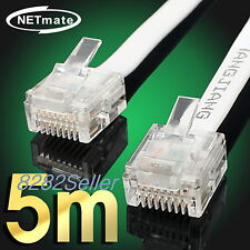 5M 15FT CAT6 Super Ultra Slim Flat Ethernet Patch Network Lan Cable RJ45 1GB NEW