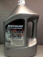 Mercury Quicksilver 4 Stroke 25W-40 Synthetic Blend Oil - Gallon Jug