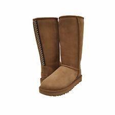 Женские туфли Ugg Classic высокий II тасманово кос сапоги 1110698 каштан