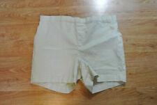 Gap Maternity Beige Nude Side Panel Adjustable Waist Medium Shorts NEW WITH FLAW