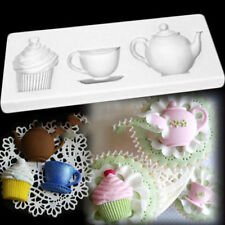 Silicone Teapot Cup Cupcake Paste Cake Fondant Mould Decorating Baking Soap Mold