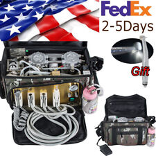 Portable Dental Unit with Air Compressor Suction System 3 Way Syringe Camouflage