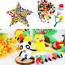 1000 Mixed FLUFFY Felt Pom poms Ball Assorted Colors Craft DIY snow balls KFO