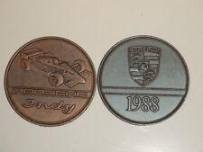 """1988 Porsche Christophorus Calendar Coin Münze """"Porsche Indy"""" RARE! Awesome L@@K"""