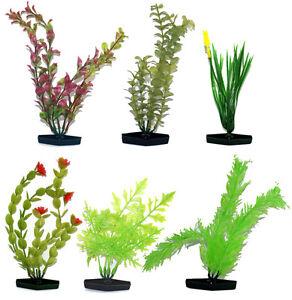 Large Aquatic Plastic Plants - Pack of 6 different plants