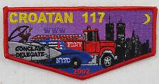 OA Lodge 117 Crotan S39 Flap 2002 Conclave; Twin Towers, Firetruck, Pol  [D1232]
