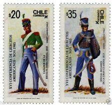 Chile 1985 #1161-62 XVI Conferencia de Ejercitos Americanos MNH