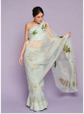 Floral Saree Sari New Wedding Indian Printed Designer Digital Print Party Wear