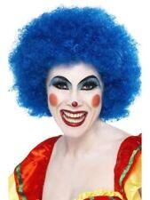 Pelucas y postizos color principal azul de pelo sintético para disfraces y ropa de época