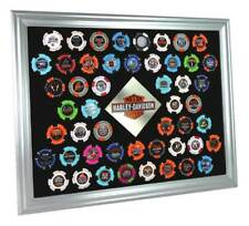 Harley-Davidson Silver Collector's Poker Chip Frame, Fits 50 Chips 6950