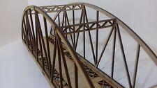 OO Gauge Model Railway Single Track Bow String Bridge Kit 3mm MDF 40cms Long P3