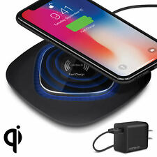 Naztech Power Pad Qi 10W Wireless Fast Charger w/Quick Charge 3.0 Wall Adapter