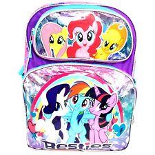 """My Little Pony Besties Large School Backpack 16"""" MLP Girls Book Bag Besties"""