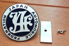 Universal JDM JAF Japan Automotive Federation emblem Front badge Blue Car Part