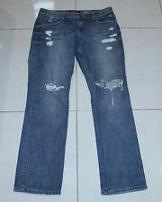 Womens size 11 distressed low rise boyfriend denim jeans made by JUST JEANS