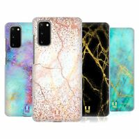 HEAD CASE DESIGNS GLITTERY MARBLE PRINTS CASE & WALLPAPER FOR SAMSUNG PHONES 1