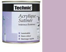 PEINTURE ACRYLIQUE SATIN 2.5 L TECHNIC VIOLET ORCHIDEE lessivable sans odeur