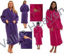 Ladies Luxury Fleece Dressing Gown Shaggy Fluffy Thick Warm Robe WinterChrsitmas