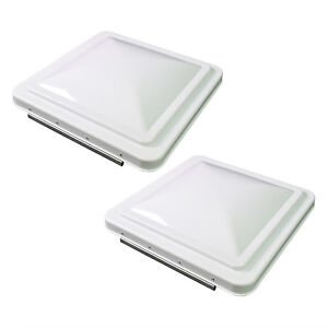 """2 Pack White 14"""" x 14"""" Replacement Roof Vent Cover Camper RV Trailer Ventline"""