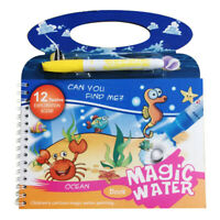 Kids Doodle Water Drawing Book Magic Pen Coloring Painting Board Children Gift