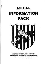 Media Pack - West Bromwich Albion v Norwich City 2003/4