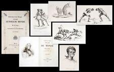 1839 Brazil Australia Kangaroo Aragó JACQUES SOUVENIRS D 'ONU aveugle