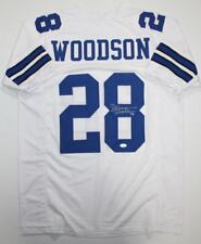 f2305bbe9da Darren Woodson Autographed White Pro Style Jersey *8- JSA Witness  Authenticated