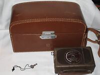 Collectible 16mm Movie Camera Bell & Howell FILMO AUTO LOAD - Leather Case + Key