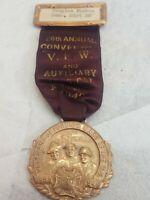 1949 VFW 50th Anniversary Award Medal Token + Ribbon Veterans of Foreign Wars