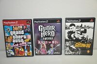 Lot Of 3 Playstation 2 games The getaway Guitar Hero Encore Rocks the 80's GTA